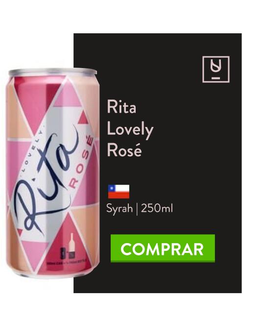 vinho em lata rita lovely rosé