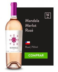 Receitas picantes card Mandala Merlot Rose