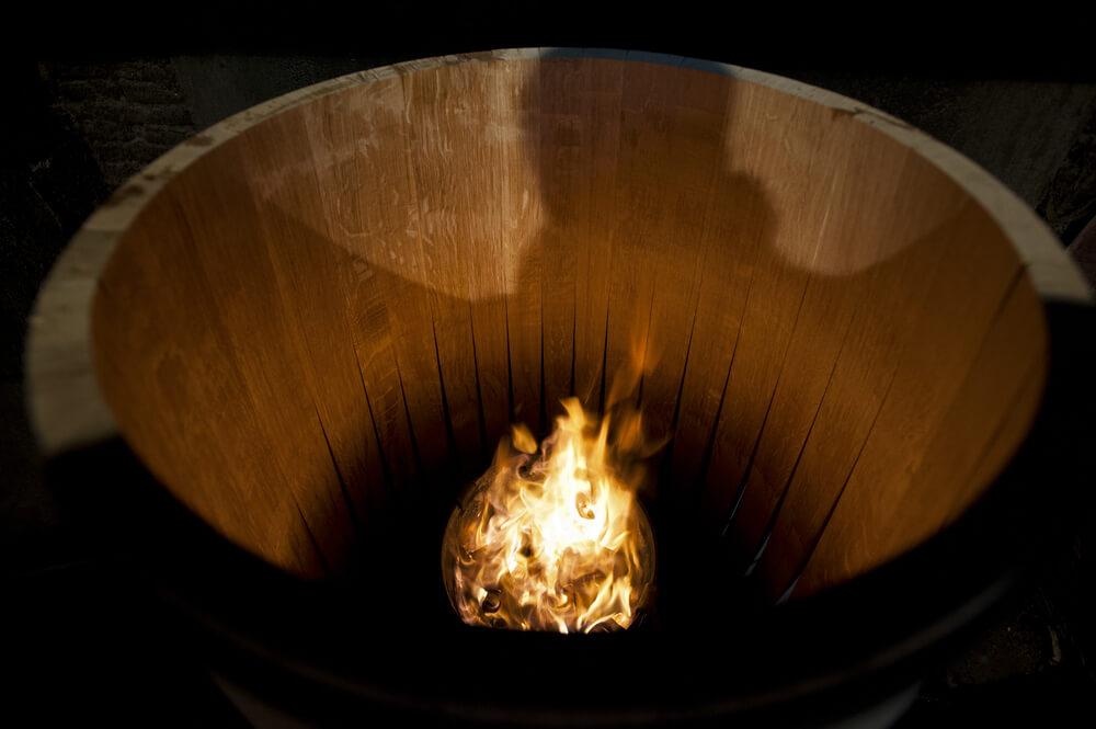 barris de vinho nivel de tostadura